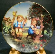 Vintage Danbury Mint Hummel 8.13 Plate Apple Tree Boy And Girl W/ Hanger Excell