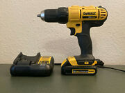 Complete Dewalt Dcd771 20v 1/2 Drill Driver Max Cordless Battery And Charger