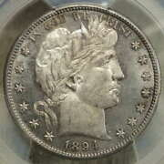 1894-s Barber Half Dollar, Semi Prooflike Uncirculated Coin, Pcgs Ms-62