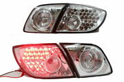 New Led Tail Lights Lamps For Mazda 3 5 Doors Hatch Wagon 2003-2009 - Chrome