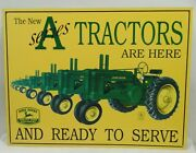 1980's John Deere The New A Series Tractors Are Here Tin Sign 16 X 12 1/2