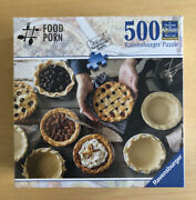 Ravensburger Jigsaw Puzzle 500 Piece Food Porn Eyes For Pies 824458 Rare New