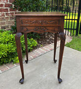 Antique French Occasional Table W Drawer Louis Xv Nightstand Oak Petite Square