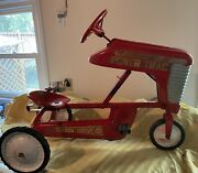 Antique Metal Amf Pedal Tractor Power Trac Chain Driven Pick Up Only