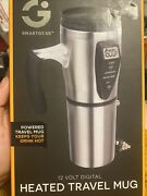 Smart Gear 12 V Digital Heated Stainless Steel Insulated Travel Mug With Charger