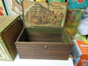 Cabin Home Cigar Box 1880s Log Cabin Shaped Black Americana Litho Exc+ Condition