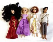 Disney Store Tangled Ever After Mini Doll Set 5.5 Mother Gothel Flynn Rare
