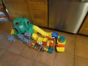 Little Tikes Peak Rail And Road Green Mountain Trucks 17 People Helicopters