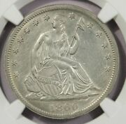 1860-s 1860 Seated Liberty Half Dollar Ngc Au Details Close To New