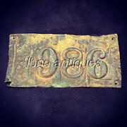 Extremely Rare 1883 New Orleans Brass Tin License Plate . L@@k