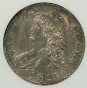 1811 Capped Bust Half Dollar Anacs Au58 Old Small Green Holder 0-104a Flashy