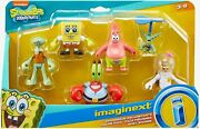 Fisher-price Imaginext Spongebob Figure 6 Pack ⚡fast Shipping⚡