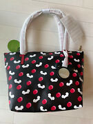 Kate Spade Disney Parks Mickey Mouse Ear Hat Large Tote Bag Purse Black 2019 New