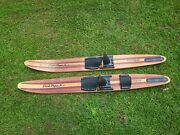 Cypress Gardens 57andrdquo Vintage Wood Water Skis Dick Pope Jr. Cabin Decor Man Cave