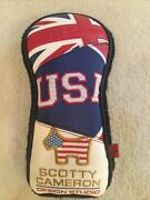 Scotty Cameron Super Rare British And American Flag Driver Patchwork Headcover,new