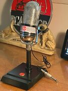 1960and039s Calrad Pill Microphone - Upgraded Sound W/ Stand Rca Styling