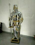 `medieval Costume Brassand Steel Suit Of Armour Wearable Crusader Combat Full Body