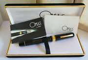 1970 Omas Extra 557f Oversize Faceted Flex Nib Box And Papers Near Mint