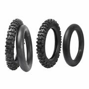60/100-14 Front Tire And Tube 80/100-12 Rear Tires For Apollo Pw80 Klx65 Crf70 Ssr