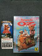 The Wizard Of Oz Return To Oz Disney Movie First Edition 1986 Vintage Superrare
