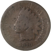 1870 Indian Head Cent Good Penny Gd Details Scratches See Pics G733