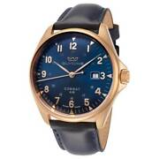 Glycine Combat 6 Classic Gl0285 Bronze Case Blue Dial And Band Swiss Made Watch