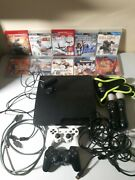 Playstation 3 Cech-3001b 320gb With Ps3 Move Bundle With 10 Games 4 Controllers
