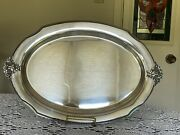 Holmes And Edwards-serving Tray -spring Garden 2019-international Silver Co.