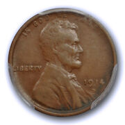 1914 D 1c Lincoln Wheat Cent Pcgs Vf 35 Very Fine To Extra Fine Key Date Shar...
