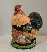 14-1/2 Tracy Porter Stonehouse Farm Ceramic Rooster Cookie Jar