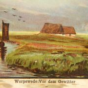 Worpswede Before The Thunderstorm Germany Postcard