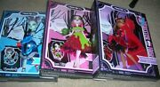 Monster High Fairy Tales Dolls Set Of 3 - Frankie - Clawdeen - Draculaura New✿✿✿
