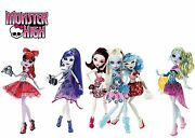Monster High Dot Dead Gorgeous 3 Pack Draculaura Abbey And Ghoulia 6 Dolls
