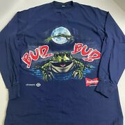 Vintage 1995 Budweiser Beer Frog Long Sleeve Shirt Xl Double Sided 90s