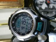 50mm Casio Tough Solar Pathfinder Compass Altimeter Graph Barometer Wr330and039 Watch