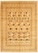 Vintage Geometric Hand-knotted Carpet 9and0390 X 12and0394 Traditional Wool Area Rug