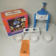 Hawaiian Sweet Island Deluxe Ice Shaver Kit Fluffy Snow Cone Maker Cups And Stand