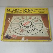 Vtg 1981 Whitman Rummy Royal Deluxe Edition Playing Card Poker Chip Board Game