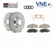 Front Brake Discs Left + Right + Brake Pads + Pins Vne / Sts Friction For Rs3