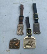 Collection Of 4 Vintage Michigan Manitowoc Construction Machinery Watch Fobs M