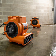 New Blower Fan Air Mover With 2 Built-in Outlets For Daisy Chaining 1625 Cfm