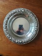 S.kirk And Son Sterling Silver Dish Plate Bowl 407a Repousse Floral Border 117g
