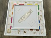 Monopoly Luxe Edition, Luxury, Rare, White Ane Gold Wooden Wood Board Game