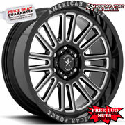 American Force Ac003 Weapon 22x10 Gloss Black Milled Wheels Rims Set Of 4