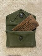 Wwii M1942 Carlyle Bandage Pouch First Aid Od 7 With Bandage
