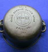 Griswold Cast Iron Childs Table Service Dutch Oven 0 Pn 109 And Lid Pn581