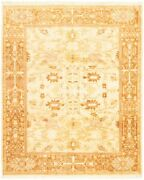 Vintage Hand-knotted Carpet 8and0390 X 9and0398 Traditional Oriental Wool Area Rug