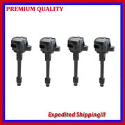 4pc Jhd749 Ignition Coils For 2015 2016 Honda Fit 1.5l L4
