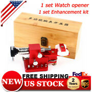 Watch Case Back Crown Tube Remover Pry Type Cover Opener With Molds Kit