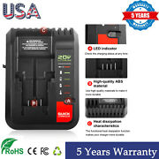 20v Max Charger Pcc692l For Black And Decker Or Porter Cable Li-ion Battery